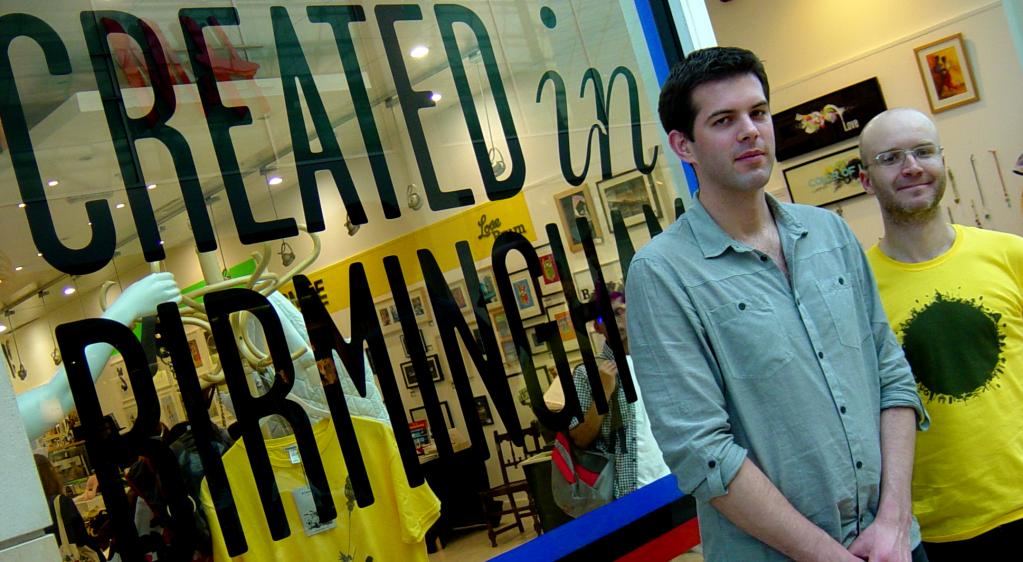 Chris Unitt and Pete Ashton at the Birmingham Bullring CiB Shop