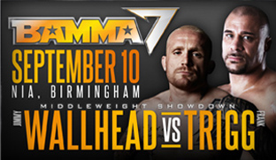 Wallhead Vs Trigg at BAMMA 7 in Birmingham