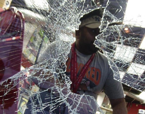 Birmingham Riots 2011 shop damage CEX store