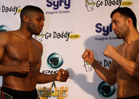 Paul 'Semtex' Daley at the BAMMA7 weigh-in at the NIA in Birmingham, 2011
