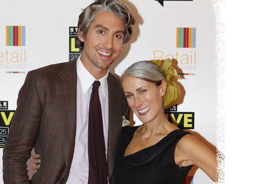 George Lamb and Caryn Franklin at Style Birmingham Live 2011