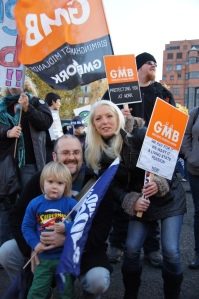 N30 Union Pensions Strike in Birmingham, November 2011 - Photo: Geoff Dexter