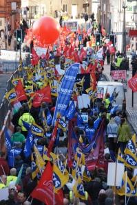 N30 Pension Strikes - Protest march in Birmingham. Photo: Geoff Dexter