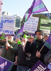 Unison members strike at Birmingham N30   Photo: Geoff Dexter