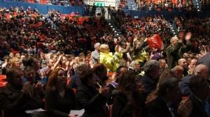 N30 Pension Strikes, NIA rally. Photo: Geoff Dexter