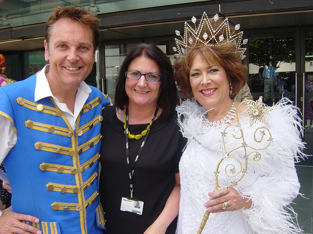 Brian Conley and Lynda Bellingham in panto Cinderella with Mandy Rose of the Birmingham Hippodrome