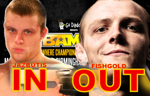 Antanas Jazbutis replaces Chris Fishgold for BAMMA 9