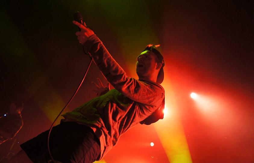 Rou Reynolds and band Enter Shikari perform at Wolves Civic