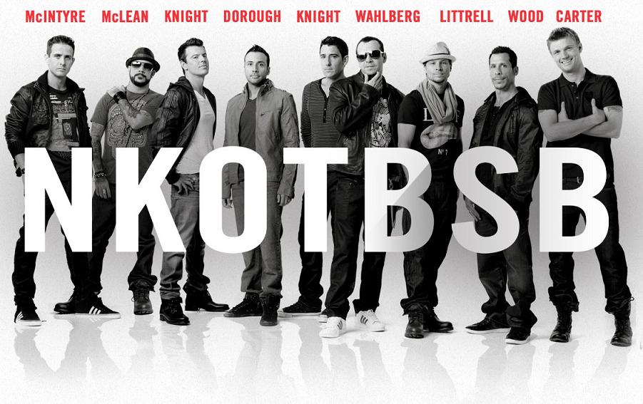 NKOTBSB at the Birmingham LG Arena in April 2012