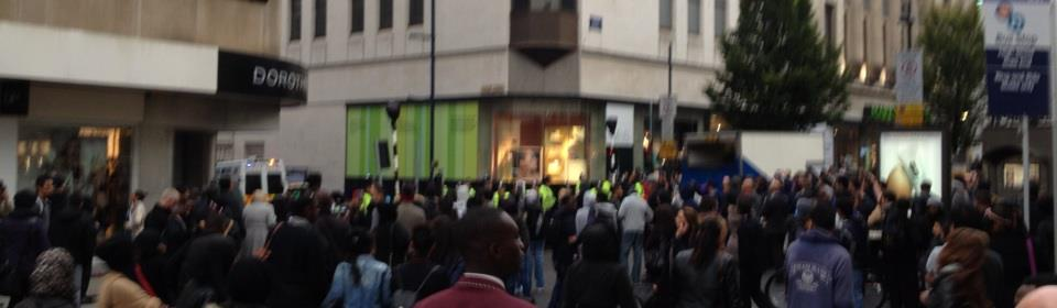 Protests in Birmingham against controversial film 'Innocence of Muslims'. Photo: Kevin Doody
