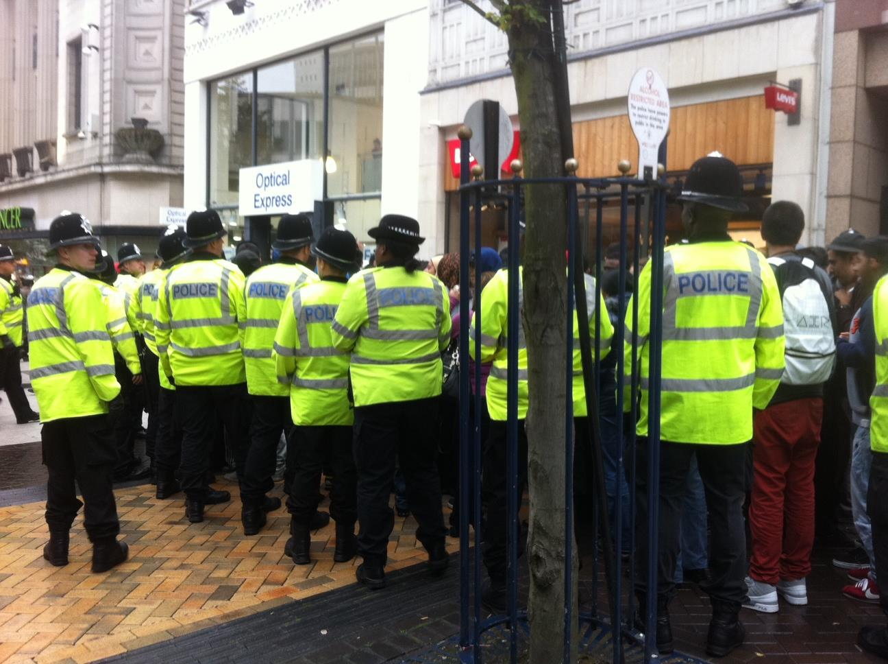 Protests in Birmingham against controversial film 'Innocence of Muslims'. Photo: Lynsey Frazer