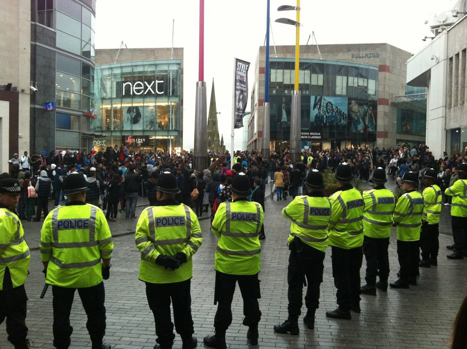 Protests in Birmingham against controversial film 'Innocence of Muslims'. Photo: Simon Alter