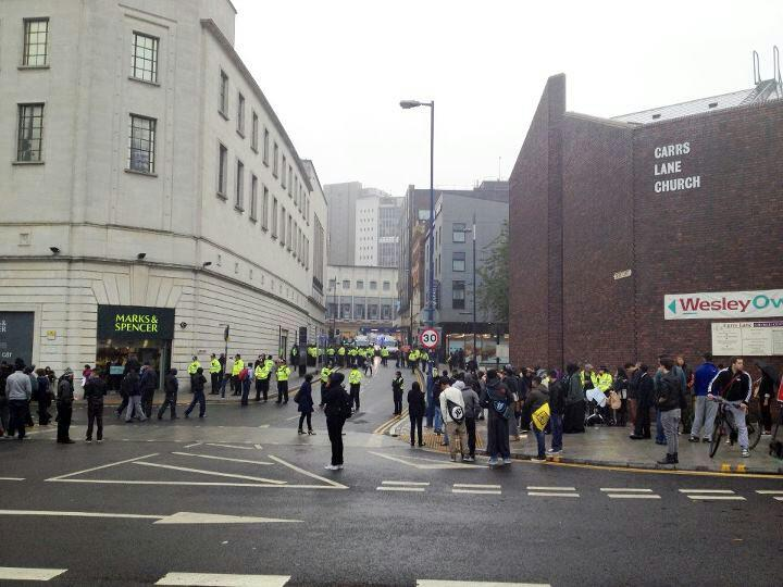 Protests in Birmingham against controversial film 'Innocence of Muslims'. Photo: Simon Williams