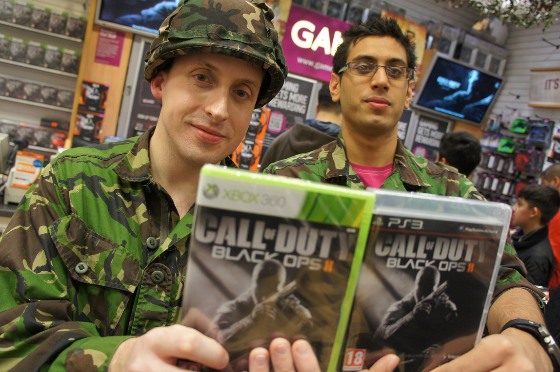 Call of Duty Black Ops 2 launch at GAME store in Birmingham Bullring 12 November 2012