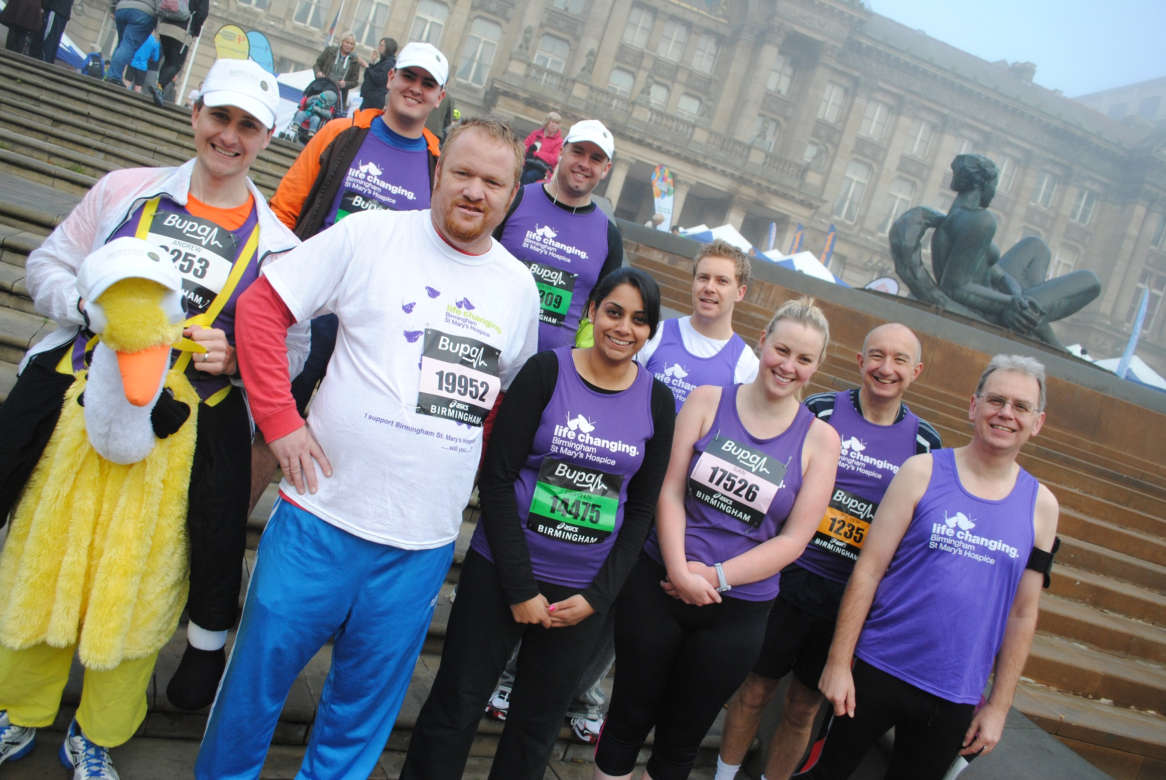 Runners get ready for the Great Birmingham Run in 2012 which raised over £30k for Birmingham St Mary's Hospice