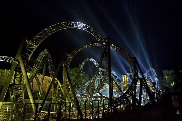 Alton Towers has unveiled its record breaking 14-loop rollercoaster, The Smiler