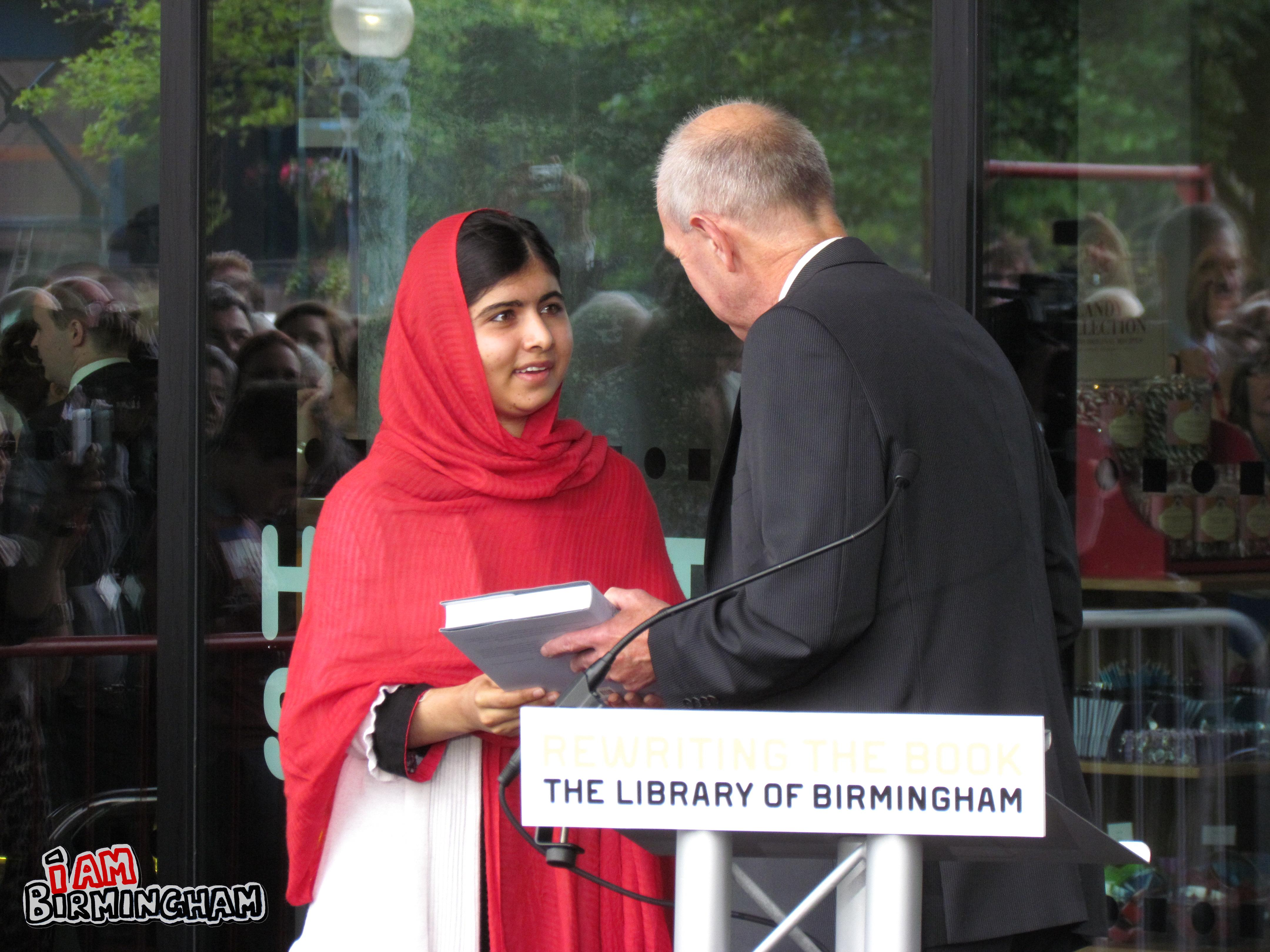 Teenage education campaigner Malala Yousafzai opens the new Library of Birmingham