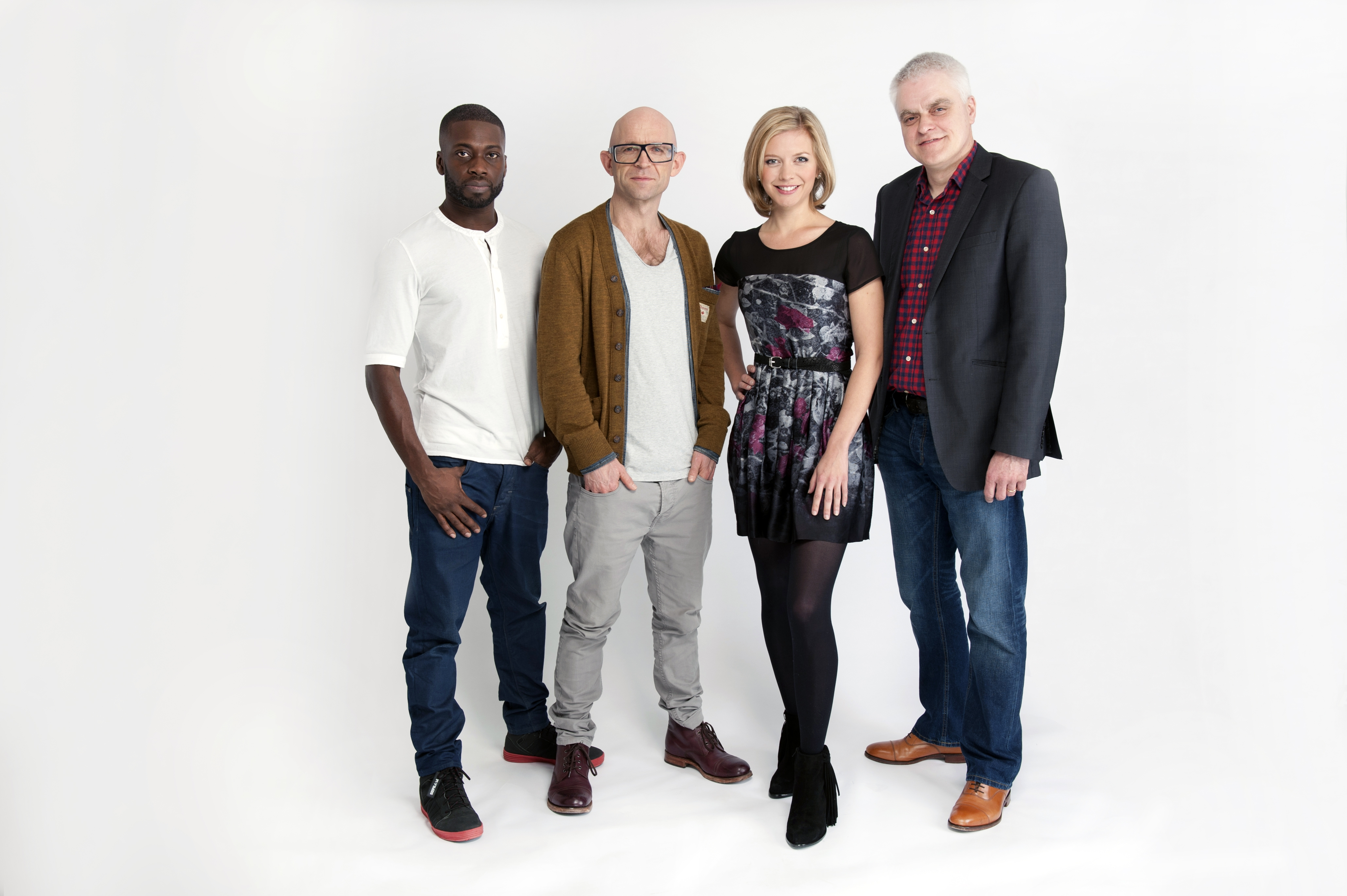 All four presenters from the new line-up of The Gadget Show will appear together on stage at the Gadget Show Live this April.