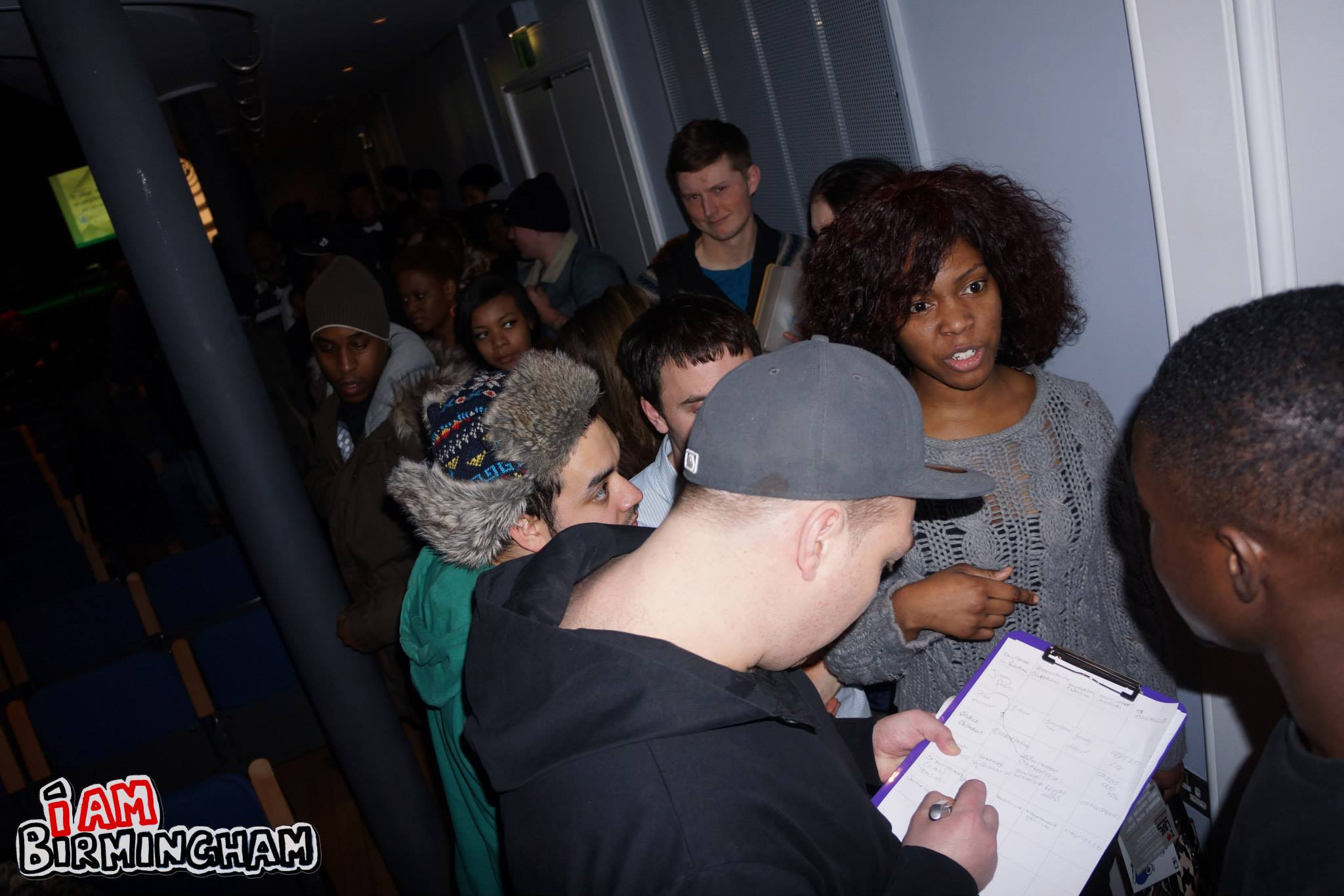 Fans queue at the Beatfreeks event for a one-to-one meet with BBC Radio 1Xtra DJ Target