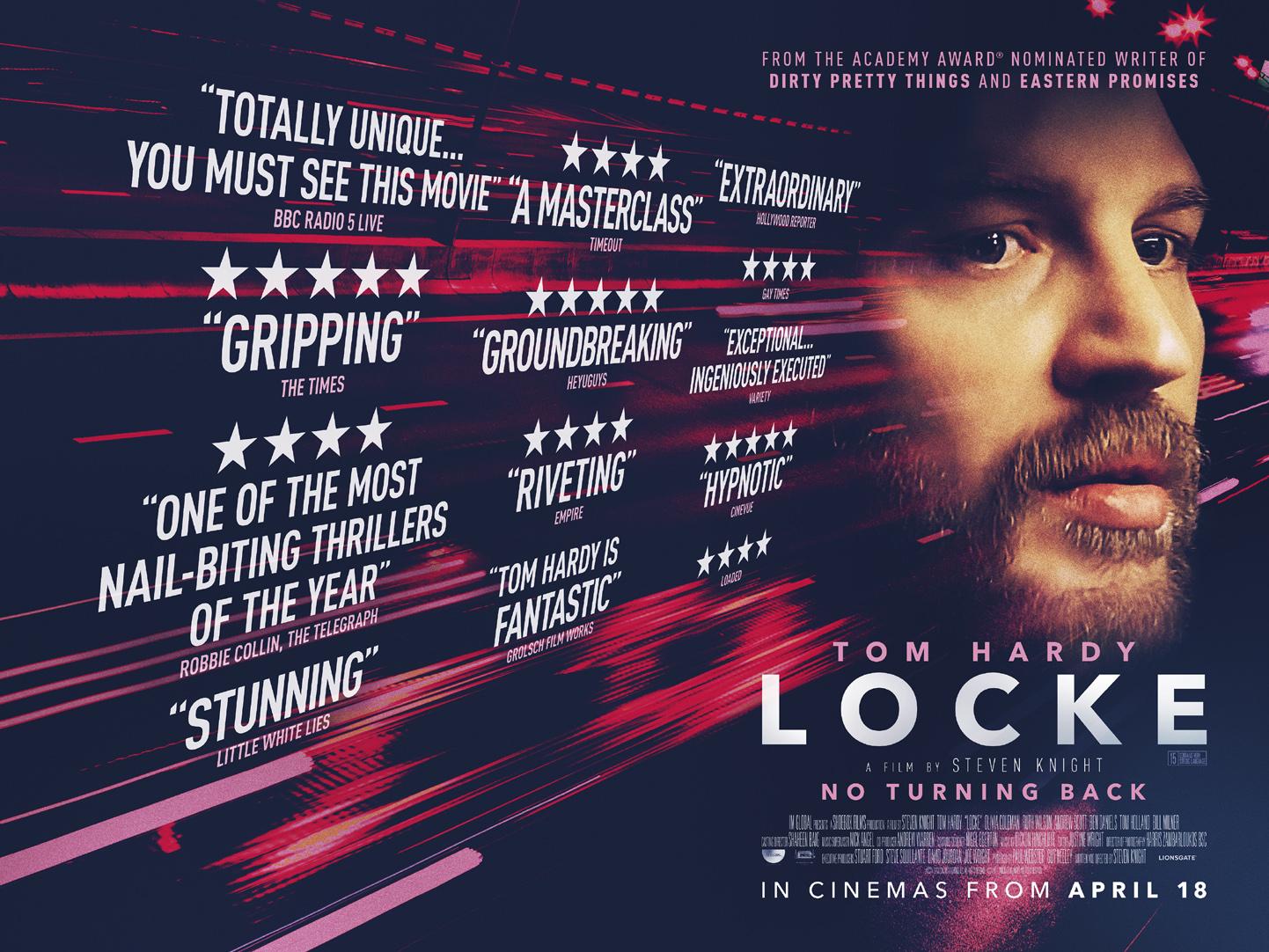 Hollywood star Tom Hardy plays a Birmingham construction foreman in new film Locke