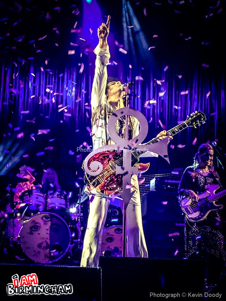 The concert was Prince's first in Birmingham for 19 years. Photograph: Kevin Doody