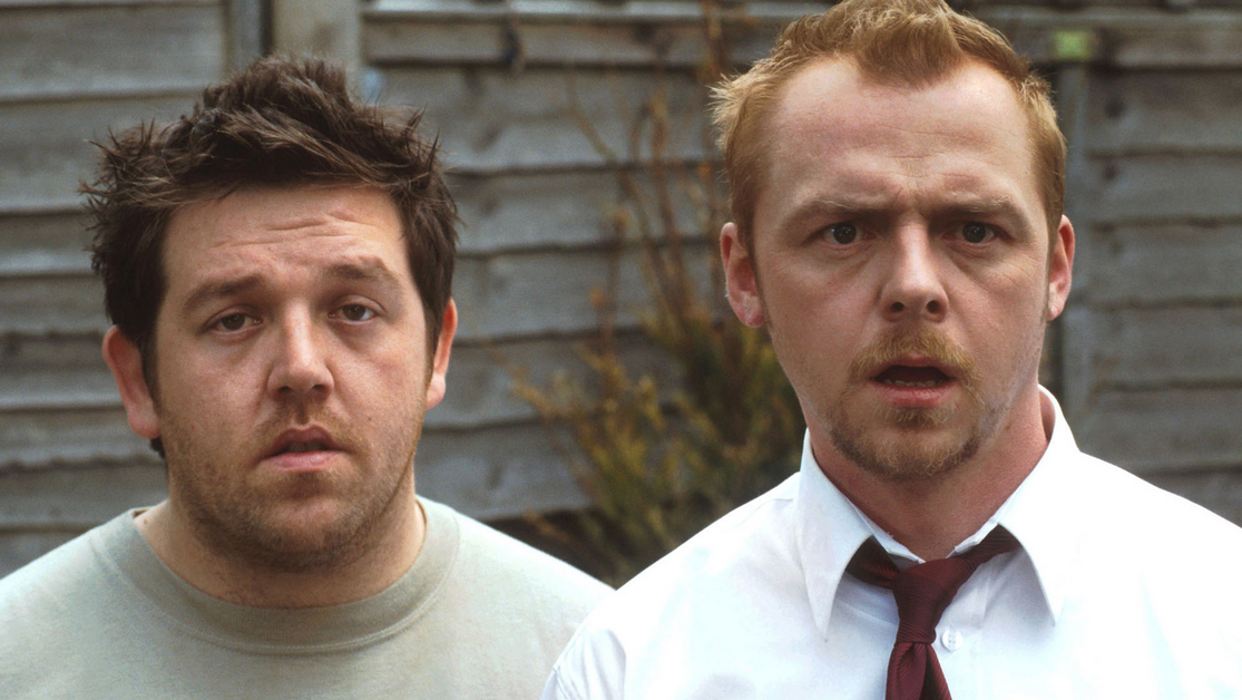 Simon Pegg and Nick Frost in cult zombie comedy Shaun of the Dead