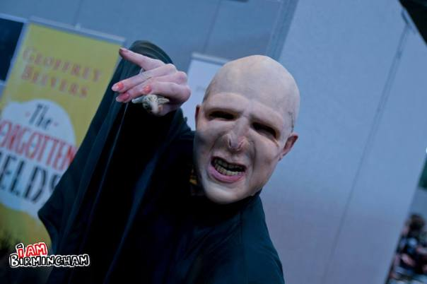 A cosplayer dresses up as harry Potter villain Voldemort at the MCM ComicCon Expo in Birmingham (Photograph: Jack Kirby)