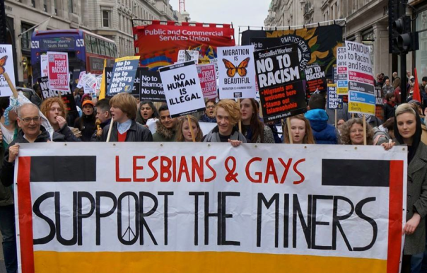 The Lesbians and Gays Support the Miners (LGSM) will be leading the Birmingham Pride Parade (Photograph: Geoff Dexter)