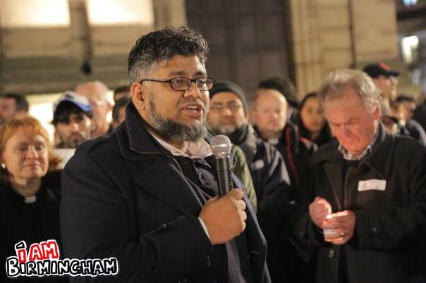 The peace vigil was organised Lozells resident Saidul Haque Saeed, of Citizens UK Birmingham (Photograph: Paul Stringer)