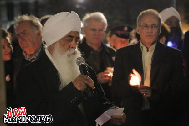 Chairman of the Nishkam group, Bhai Sahib Dr. Mohinder Singh, shares a message of peace for the victims of the Paris and Beirut attacks (Photograph: Paul Stringer)