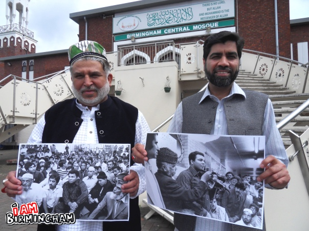 Staff at Birmingham Central Mosque remember the legendary icon's visit to the place of worship in 1983 (Photograph: Adam Yosef)