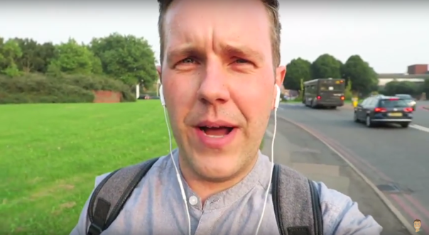 "YouTuber Luke Williams was verbally abused and called a ""queer"" as he walked in Dudley Road (Image: OfficialLukeVlogs)"