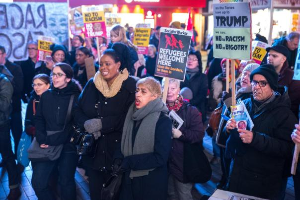 The Anti-Trump protest was held in Birmingham city centre on the day of Donald Trump's inauguration as US President (Photograph: Geoff Dexter)