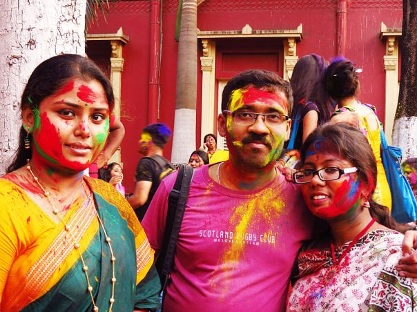 Holi is a two-day festival celebrated by Hindus, Sikhs, Jains and Buddhists (Photograph: Partho72)