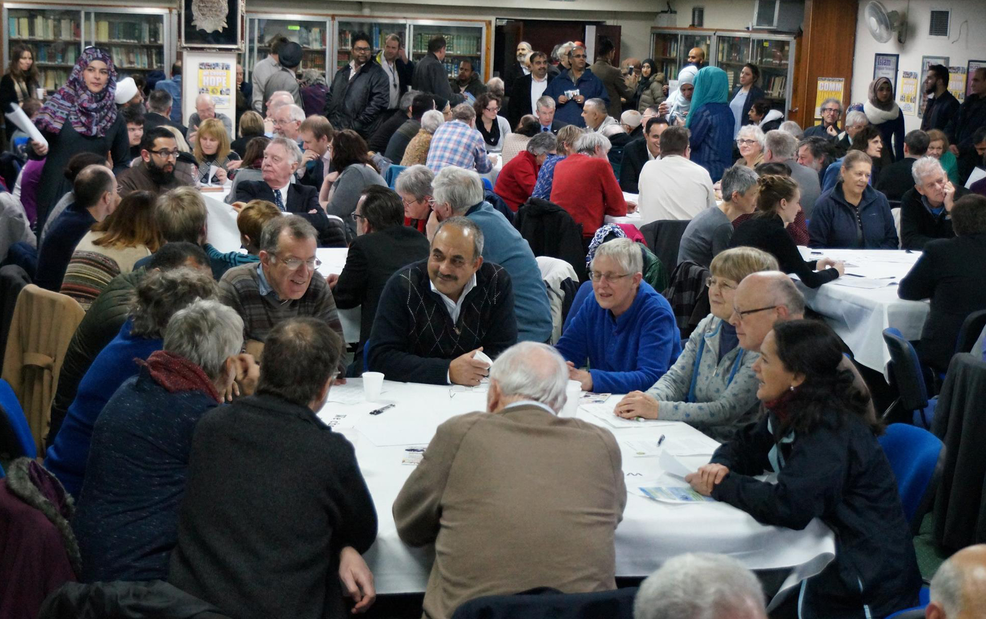 A previous multicultural and multi-faith gathering was held at Birmingham Central Mosque in February last year (Photograph: Adam Yosef)