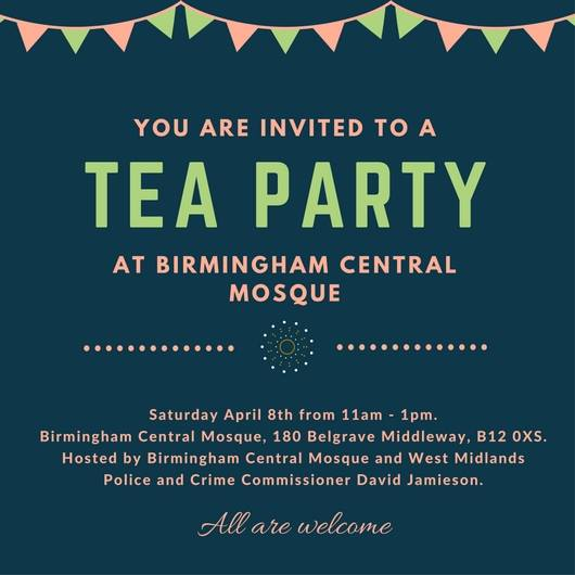 The Birmingham Central Mosque has invited faith and community leaders to the afternoon tea party (Image: BCM)