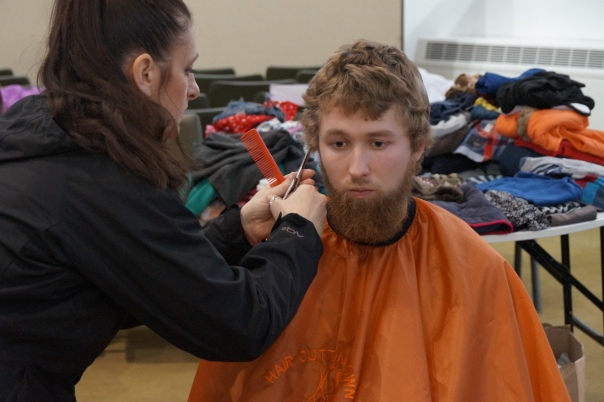 Hairdressers will be giving free haircuts during the Birmingham Food Drive event (Photograph: Birmingham Food Drive)