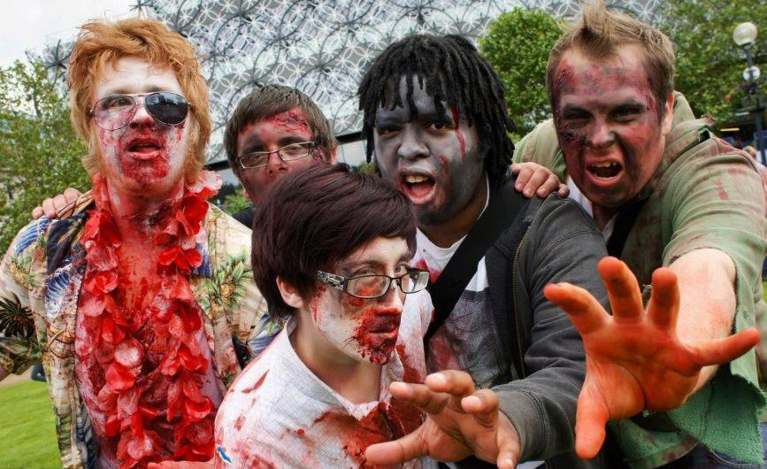 Fundraising zombies at the Birmingham Zombie Walk in 2012 (Photograph: Adam Yosef)